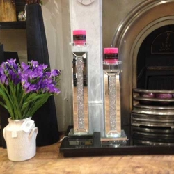 Milano Crystal candle sticks