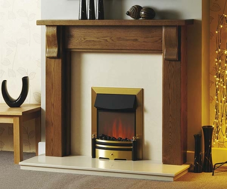 Focus Fireplaces Montreal oak fire surround