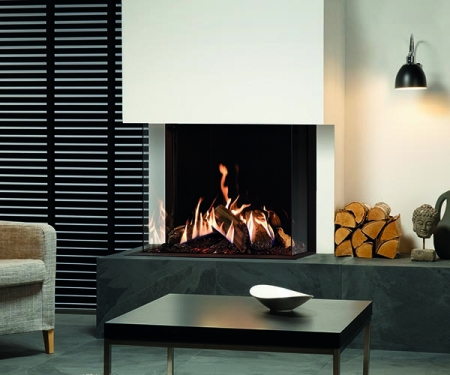 Gazco Reflex 75T-3 sided gas fire