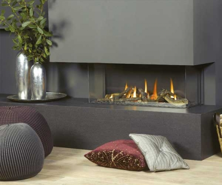 Vision Trimline TL100p-Panoramic gas fire