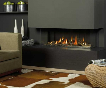Vision Trimline TL120p-Panoramic gas fire