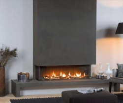 Vision Trimline TL140p-Panoramic gas fire