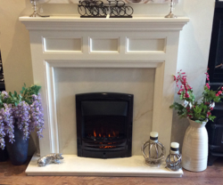 focus fireplaces paris white timber fire surround
